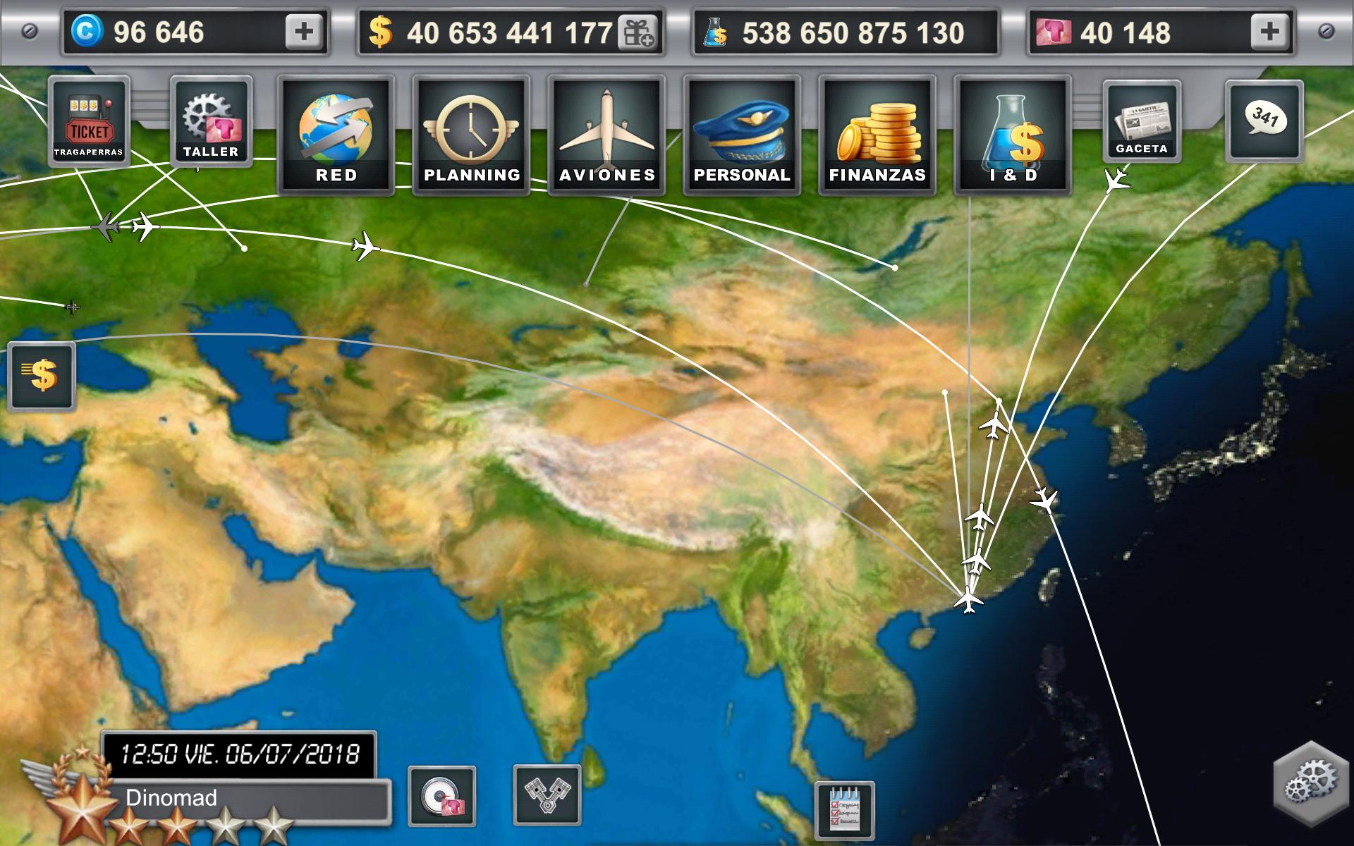 mapa vuelos